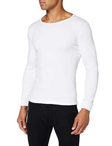 Damart T- Shirt Manches Longues Maille Interlock Sous-vêtement, Blanc, M Homme