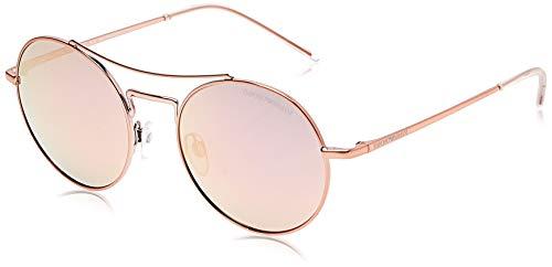 Emporio Armani EA2061-32194Z-52 ronde zonnebril 52, goud