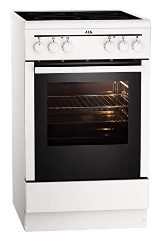 AEG CCB50000BW 50 cm Standherd mit Glaskeramik-Kochfeld / Grillfunktion / A