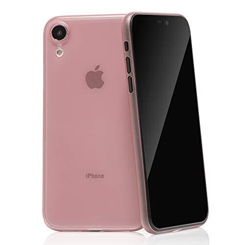 """QUADOCTA Custodia Premium Ultra Slim per iPhone XR (6,1"""") - Conchiglia Protettiva - Tenuis in Rosa - Ultra Sottile - Cover Smart Leggermente Trasparente - per iPhone 10 (Qi Compatibile)"""