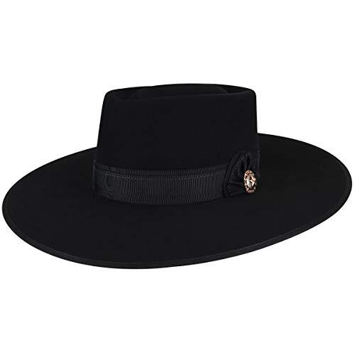 Bailey Western Men's COWPUNCHER Wide Brim Western HAT, Black, 7 3/8