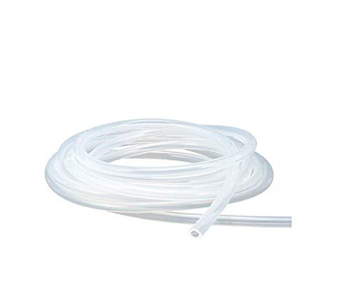 Antrella Flexibler Silikonschlauch Lebensmittelqualität 1.5mm ID x OD 3mm Wandstärke 0.75mm Wasserleitung, transparenter Schlauch 2 Meter Länge