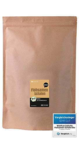 Wohltuer Bio Flohsamenschalen | Indische Flohsamen-Schalen Bio | Höchster Reinheitsgrad 99% | Regelmäßige laboranalytische Kontrollen | Glutenfrei & Ballaststoffreich 900g