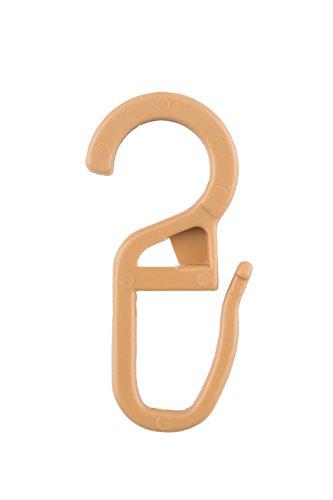 Ruther & Einenkel Überklipshaken Natur, Durchmesser 9-10 mm/Aufmachung 100 Stück, Kunststoff, 3.5 x 1.5 x 0.3 cm, 100-Einheiten