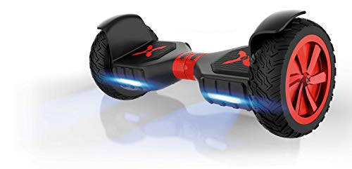 Hover-1 Charger Hoverboard Electric Scooter 10 inch Wheels Bluetooth Speaker and LED Lights, Black, 30 x 13 x 11 (H1-COL-BLK)