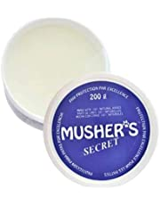 Musher's Secret Paw Protector Wax. Balsamo Perro Hecho con 100 por Ciento De Ceras Naturales. Protectores Patas Perros y Protección pezuñas para Todas Las Estaciones. 200 Gramos
