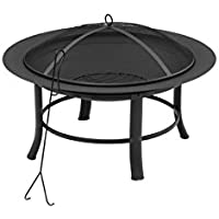 Mainstays 28 Inch Fire Pit with PVC Cover and Spark Guard