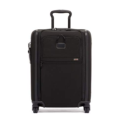 TUMI - Alpha 3 International 4 Wheeled Slim Carry-On Luggage- 22 Inch Rolling Suitcase for Men and Women - Black