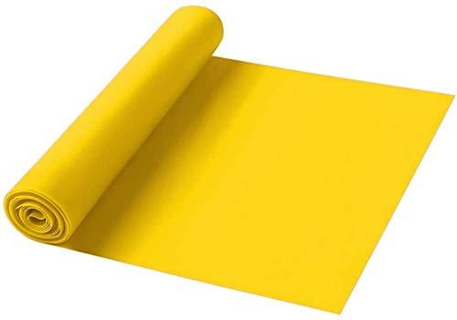 FANLIU Bandas elásticas de látex Bandas de Resistencia, Bandas de Ejercicio Profesional Bandas elásticas de látex Natural a Largo, Perfecto for el Entrenamiento de la Fuerza PC 1 (Color : Yellow)
