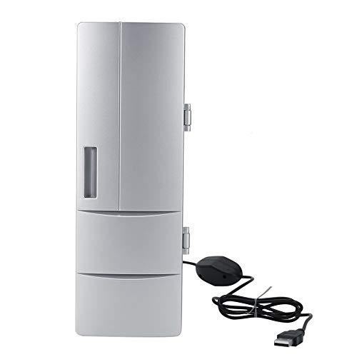 SSZZ USB Compact Portable Mini Frigo Warm en koud met dubbel gebruik voor auto, tafelkoelkast, koelbox en warme werking in de auto