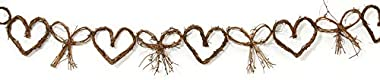 Darice 2818-92 Grapevine Garland Bow Heart 5Ft