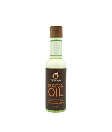 Tropicana Oil Natürliches Kokos Bräunungsöl 100ml | Sonnenöl Naturkosmetik Tanning Oil mit Sonnenblumenöl Süßmandelöl  Arganöl Aloe Vera Extrakt&Tomatenextrakt | 100% ohne Mineralöl&Emulgatoren