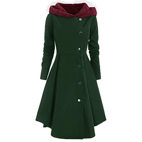 Damesmantel jas Dasongff capuchon lange coat fleece vrouwen asymmetrische solide capuchon parka katoenen mantel grote maten trenchcoat mantel