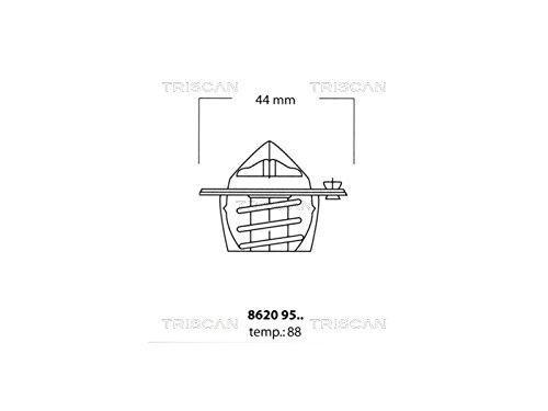 Triscan 8620 9588 Termostato, refrigerante