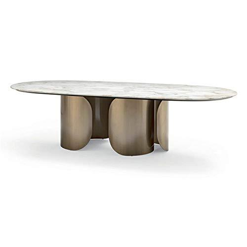 XINTONGSPP Edelstahl Tisch, rechteckig Marmor Esstisch/Konferenztisch, Personalisierte Kreative Marmor Möbel, 160 * 80 * 75 cm