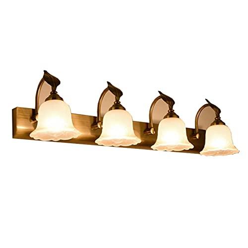 Luz De Espejo Led Faros De Espejo Minimalistas Lámpara De Pared Retro para Dormitorio Baño Tocador Gabinete (Color: Luz Cálida, Tamaño: 26 Pulgadas)