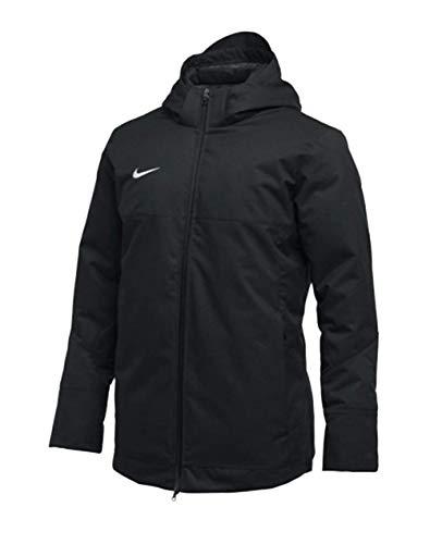 Nike Mens Down Fill Full Zip Hooded Parka Black/White Size XXL