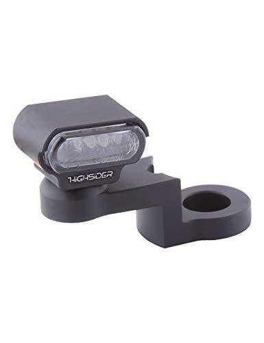 HIGHSIDER Intermitente LED con fijación para espejo CNC tipo 1, certificado E (2 unidades)