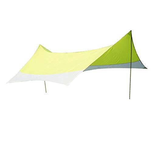 Generic Kit de Bâche Tente Anti Pluie Imperméable Abri de Randonnée Tapis Coupe-Vent Anti-Neige,Portable, Léger Pare-Soleil pour Camping en Plein Air - Papillon Vert, 420x420cm