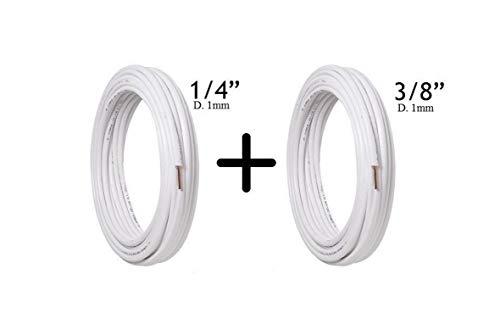 Tubos de cobre acondicionador par 1/4 + 3/8 apto para gas R410A R407C R22 10 Metri (10+10) Bianco