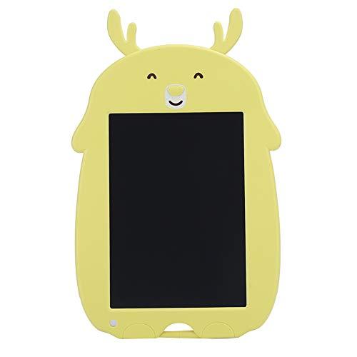 Plyisty Tablero de Escritura a Mano, Tablero de Escritura electrónico, Pantalla Suave LCD de 8.5 Pulgadas para Estudiantes y niños(Yellow Fawn)