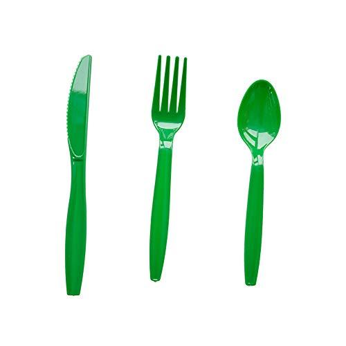Demarkt Set van 10 kerstmessen vork en lepel bestekset wegwerpset mes vork lepel combinatie papieren bestek set voor kerstfeest 17 * 15.5 * 14.5cm blauw