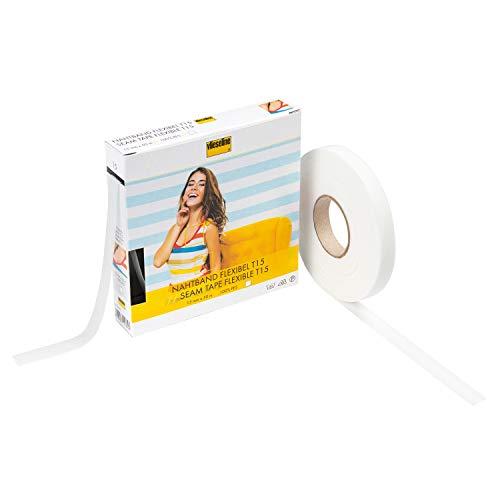 Vlieseline GP Nahtband Flexibel, 100% PES, weiß, 1,5 cm x 50 m