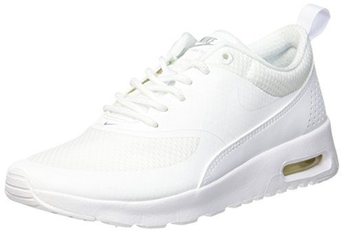 Nike Damen AIR MAX THEA (GS) Sneaker, Weiß (White/metallic Silver/White), 36.5 EU