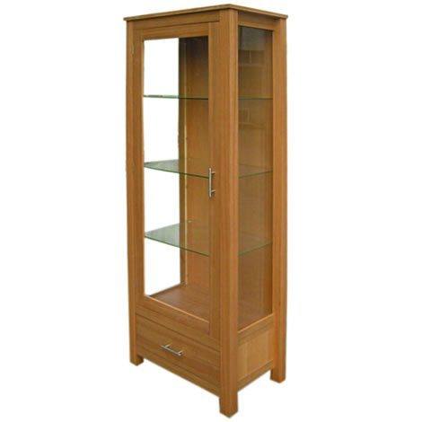 oakville display cabinet glass shelves door and sides 1
