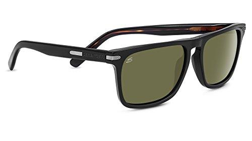 Serengeti Eyewear Sonnenbrille Large Carlo, Shinyack/Polarized, 8325