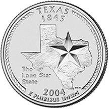 2004 P Texas State Quarter Choice Uncirculated