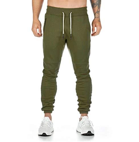 UMore Herren Hosen Hose Sporthose Trainingshose Cargo Pants Jogginghose Sweatpants Jogger Mode Freizeit Laufen Streifen Enger Beinabschluss