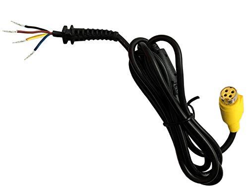 UpBright DC Tip 4 Holes Power Plug Socket Connector with Cord/Cable Compatible with 5V 6V 9V 12V 14V 15V 16V 18V 19V 19.5V 20V 24V 28V 36V 42V 48V AC Adapter Power Supply Battery Charger (1 Pcs)
