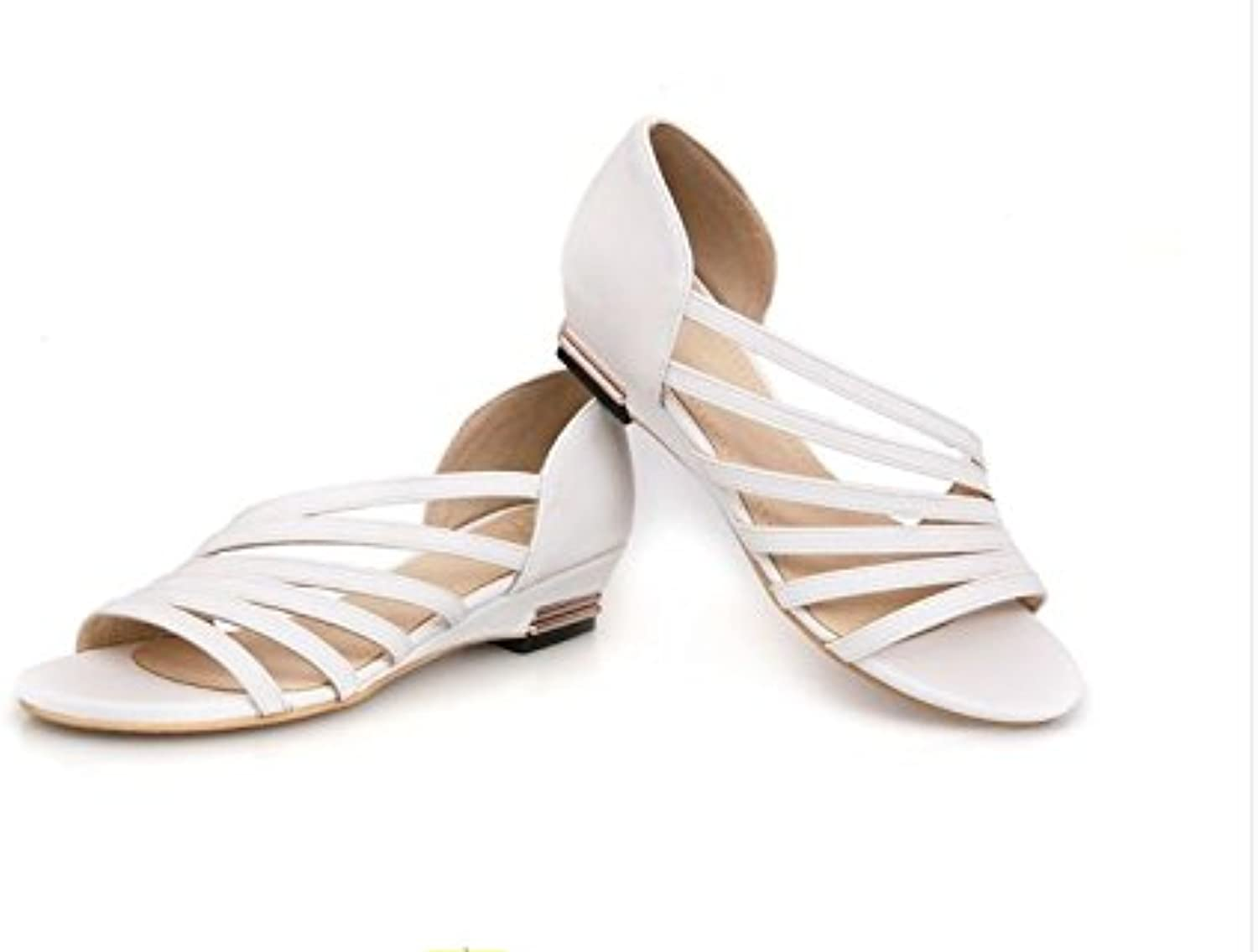 WHW Women's Spring Summer Fall Comfort Novelty PU Wedding Party Evening Dress Stiletto Heel Sandals,31,White
