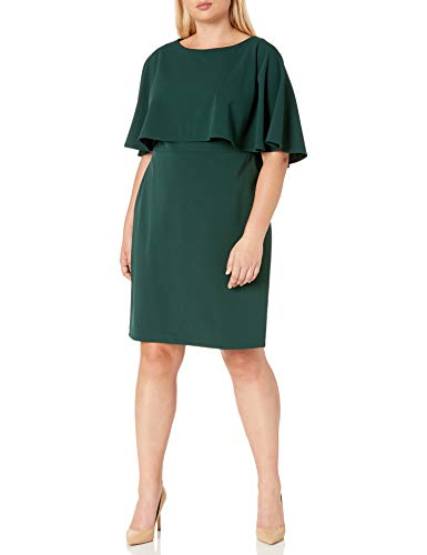 Calvin Klein Women's Capelet Size Sheath, Malachite, 20 Plus (Apparel)