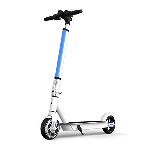 "Hiboy S2 Lite Electric Scooter - 6.5"" Solid Tires - Up to 10.6 Miles Long-Range & 13 MPH Portable Folding Commuting Scooter for Teens/Adults (White)"