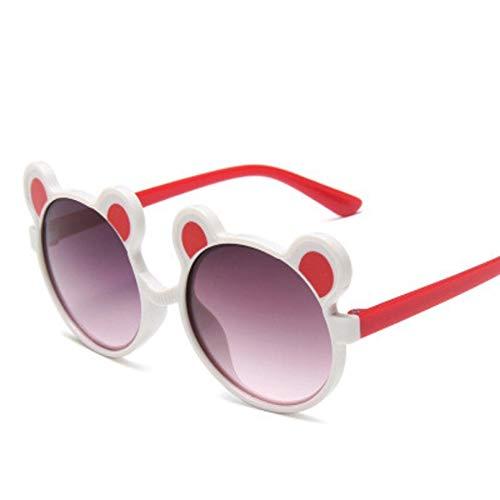 SHUHUI Nauq Tendencia Lindo Oso Gafas De Sol Redondas para Niños Niños Niñas Gradiente Gafas De Sol Niños Luz Cómodas Gafas Uv400