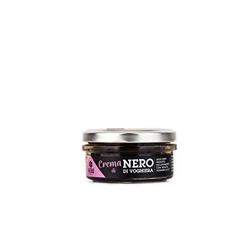 NERO FERMENTO NV Streichcreme mit schwarzem Knoblauch, hergestellt mit Voghiera Garlic D.O.P. 70 gr, Made in Italy, reich an Antioxidantien, ohne Konservierungsstoffe, ausgezeichnet mit Nudeln