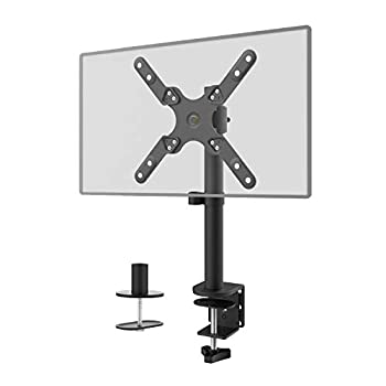 Single LCD Monitor Desk Mount Fully Adjustable Fit One Screen 13 to 42 inch 22 lbs Weight Capacity  M001SXL  Black by WALI