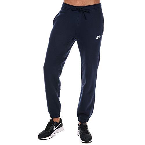 Nike Herren Sport/Jogging-hose Lang Club Pants-804406 M NSW CF BB, Obsidian Blau/Weiß, M