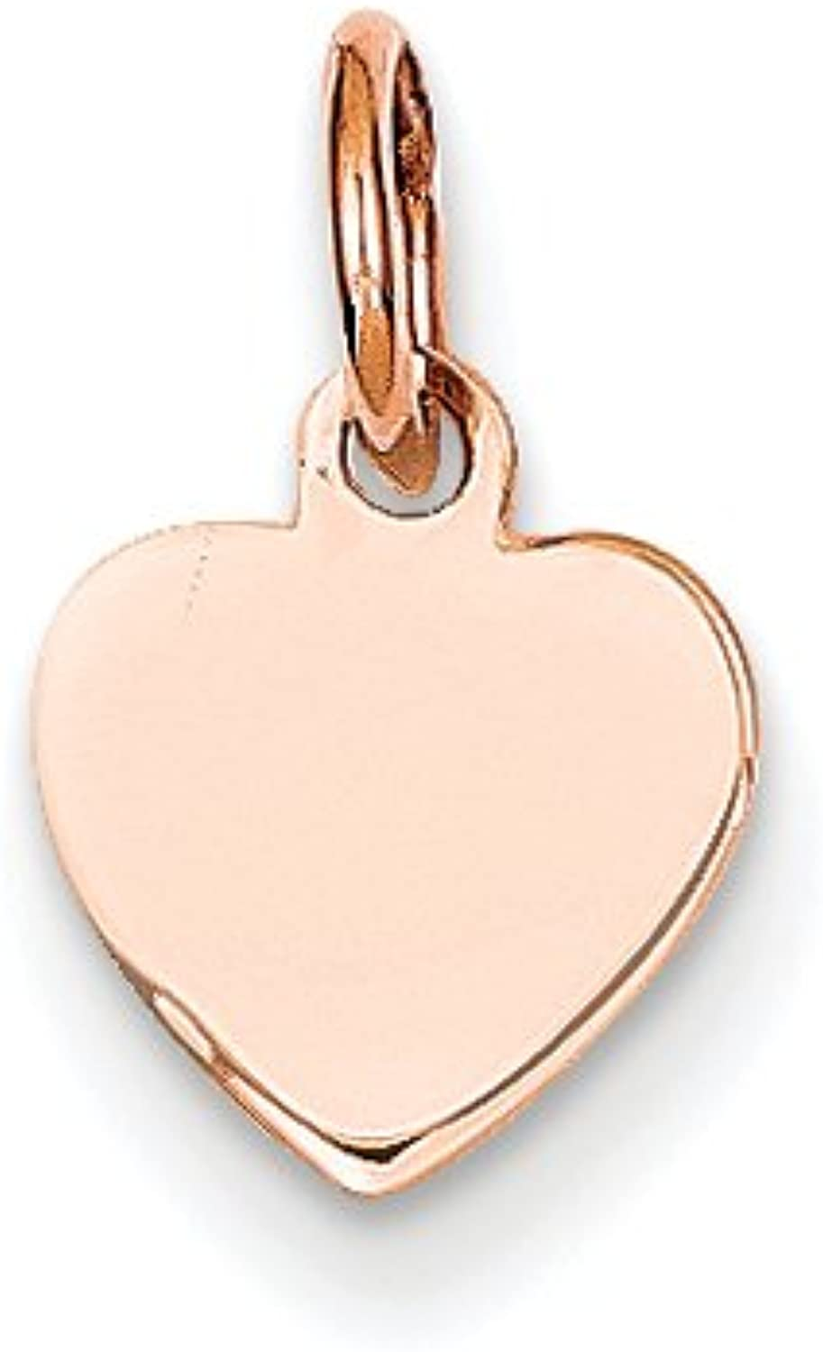 Diamond2Deal 14k pink gold Heart Disc Pendant