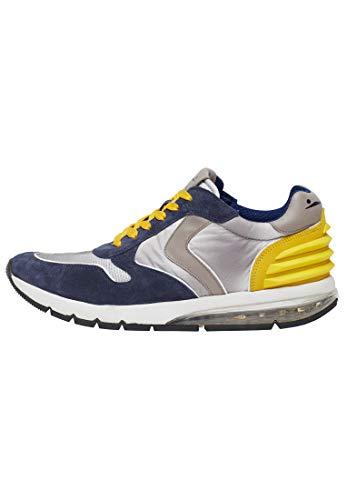 VOILE BLANCHE Lean Power-Sneakers in Pelle e Nylon Grigio 43