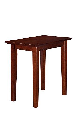Atlantic Furniture Shaker Chair Side Table, Walnut, (22' x 14')