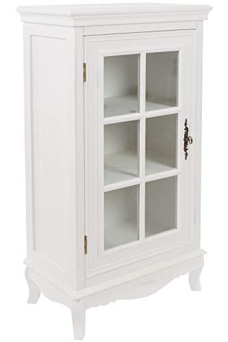 Elbmöbel glazen vitrine commode kast wit antiek van hout landhuis vitrine houten kast Shabby verzamelvitrine afsluitbaar