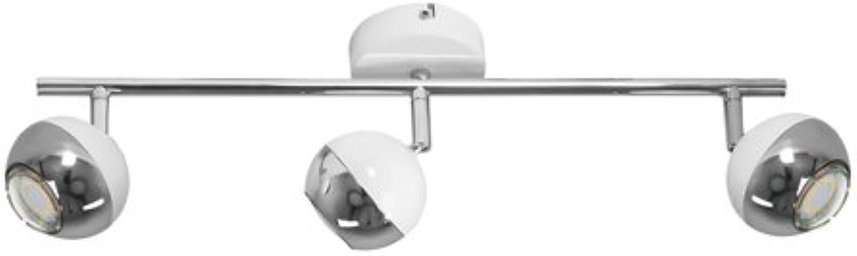 Spot-Light LED Deckenleuchte Metall GU10, 4.5 W, Metallico Bianco