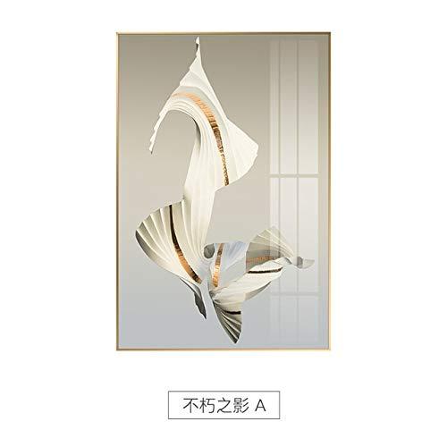 XUML Abstract Creatieve Onsterfelijke Schaduw Canvas Schilderij Posters en Print Unieke Witte Kunstmuur Foto's voor Woonkamer Slaapkamer Aisle 30x40cm(No frame) A