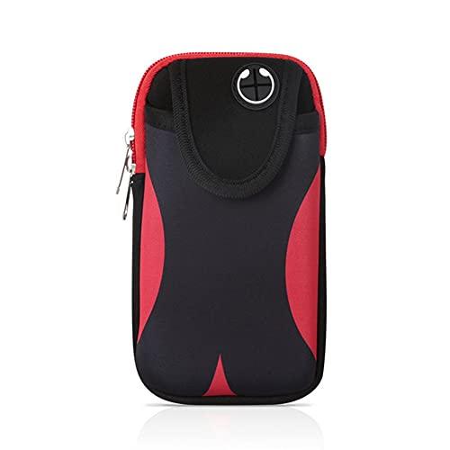 NJBYX Bolso universal del pulsera del teléfono móvil, con 6,5 pulgadas impermeable deportes de jogging ciclismo gimnasio gimnasio brazalete caja de teléfono móvil (Color : Red)