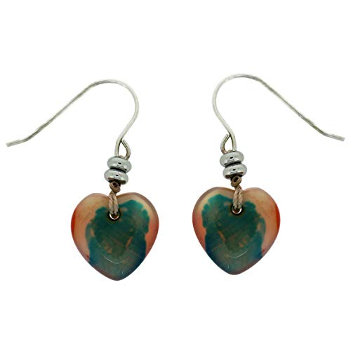 Lola Rose Rodina Heart Earrings Tie Dye Agate