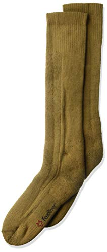FoxRiver Adult Cold Weather Mid Calf Boot Socks, 3 Pack, Heavyweight Thermal Socks with Superior Moisture Wicking Ability - Coyote Brown - Large