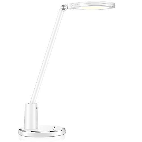 Deckey LED Schreibtischlampe 10W, Tischlampe, Bürolampe, Tischleuchte dimmbar mit 5 Farbmodi & 10 Helligkeitsstufen, Touchfeldbedienung